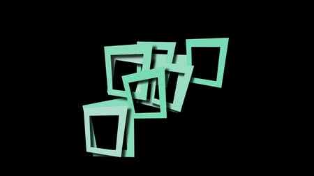 şematik : abstract blue square frame and puzzle background.