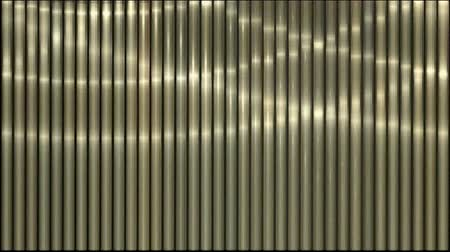 inclinado : waving light on metal strips,silk curtain stainless-steel stage lines. Stock Footage
