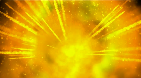 ses : explosion fireball and smoke in universe,gold missle and sparkle rays laser light.