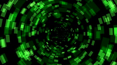 radio wave : abstract rotation square array background,tech Science fiction tunnel hole. Stock Footage