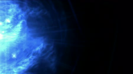 vizyon : blue nebula and whirl laser
