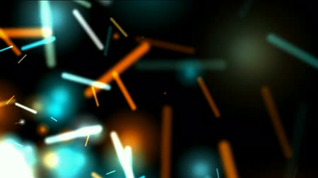 doomsday : dazzling sticks and particle flying. Stock Footage