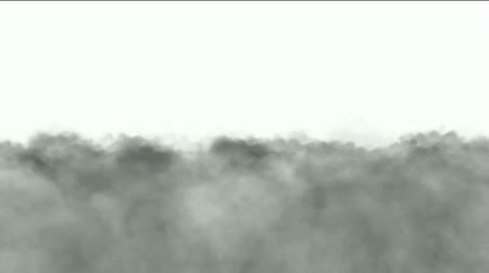war field : Running clouds and smoke. Stock Footage