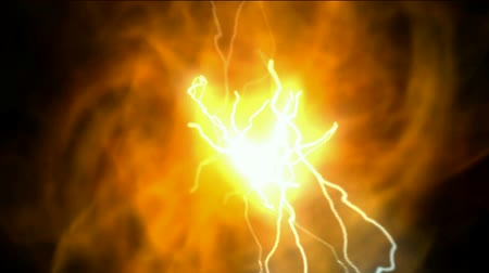 aydınlatma : fireball and lightning,solar,Cosmic energy,universe explosion. Stok Video