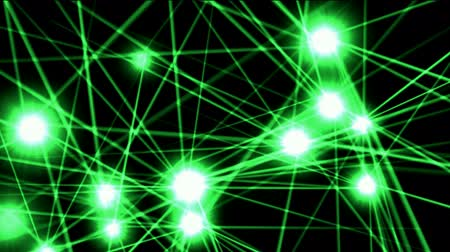 spider web : green shine stars,flare ray light,Christmas background,fiber. Stock Footage