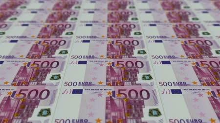 para kazanmak : 500 euro bills,Printing Money Animation.
