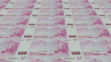 стимул : 500 euro bills,Printing Money Animation.