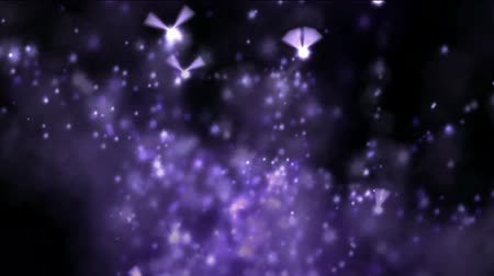 czarodziej : flying firefly & angels swing wings & splash dazzling particles at night,fairyland & dreamy scene. Wideo