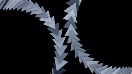 flowing lines : moving arrow and triangle cards array,business computer background. Stock Footage