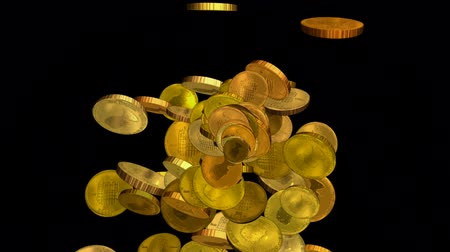 účty : golden coins falling down