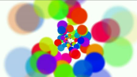 orbe : abstract colorful circles loop,dancing dots and particles,bubble and blister background. Stock Footage