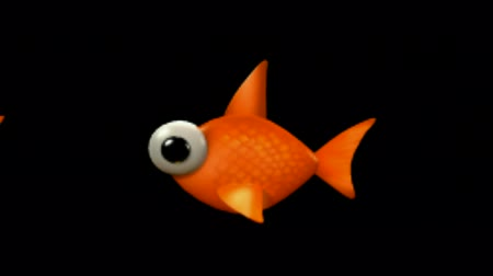 pesci : Cartoon goldfish.