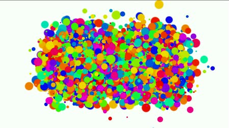 балки : bubble and blister array background,dancing dots and particles,abstract colorful circles loop.