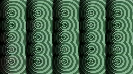 circle cell : rotation circle ripple cloud pattern,Eastern classical mosaics texture,round paper cut. Stock Footage