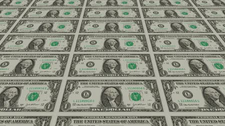 para kazanmak : Printing Money Animation,1 dollar bills Stok Video