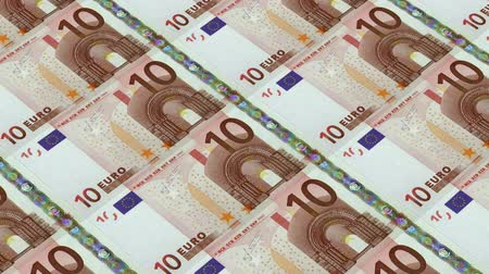 forgery : 10 euro bills,Printing Money Animation.