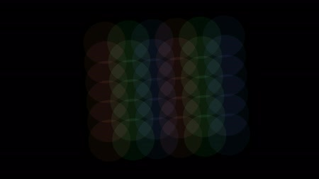 field measurements : color circle slowly moving. Stock Footage