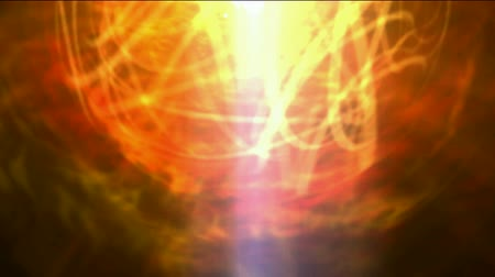 doomsday : burn sun,golden nebula & whirl laser,energy tech fiber optic cable. Stock Footage