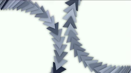 geometry compass : moving arrow and triangle cards array,business computer background. Stock Footage