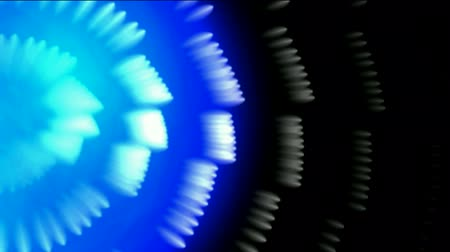 kablo : whirl fiber optic and bubble,blue cable rays laser light in space. Stok Video