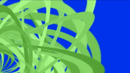 stage lights : green helix lines,spiral fiber optic cable,mixing ribbon,broken pieces of debris paper. Stock Footage