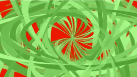 yanılsama : green helix lines,spiral fiber optic cable,mixing ribbon,broken pieces of debris paper. Stok Video