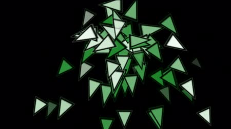 zabawka : triangles card mosaics explosion falling,abstract math geometry.