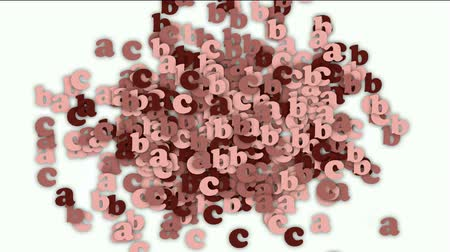 programmers : alphabet abc,cartoon letter paper card matrix background,computer screen.