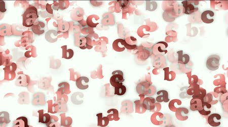 abeceda : cartoon letter paper card matrix background,alphabet abc,computer screen.