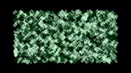 gry komputerowe : computer chip board,green square block mosaics wall,game brick background,abstract math geometry. Wideo