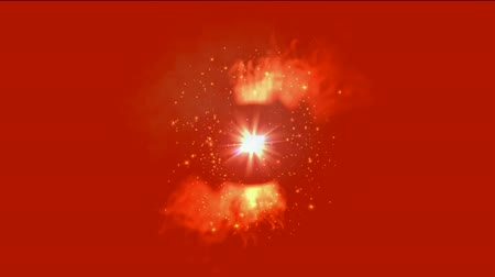 flaş : swirl fire around dazzling rays light,sunlight and explosion particles in cosmos,tunnel hole.