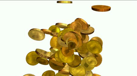 ouro : golden coins falling down
