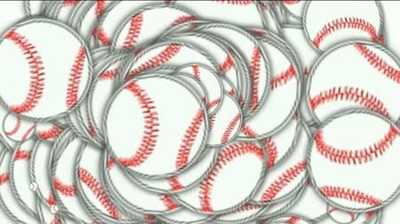 tennis stadium : rolling softball and baseball array.  Stock Footage