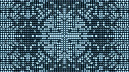 mosaico : Electronic dots Background,disco flower neon,particle,mosaics,puzzle,tech communication,web,enery,game,weaving,textile,pattern,symbol,vision,idea,creativity,vj,beautiful,art,decorative,mind,Geometry,mathematics,computing,graphics,fun,Game,Led,neon li Stock Footage