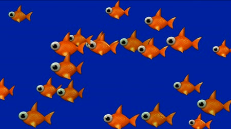 repousante : cartoon goldfish.