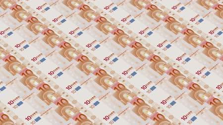стимул : 10 euro bills,Printing Money Animation.