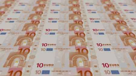 fiscal : 10 euro bills,Printing Money Animation.