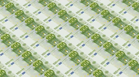 kryzys : 100 euro bills,Printing Money Animation. Wideo