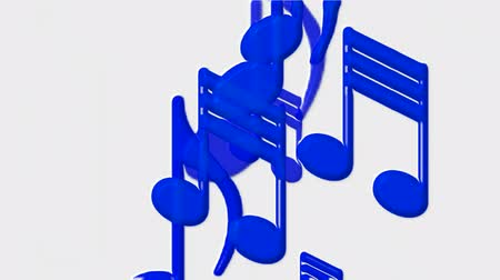 serenade : Plastic Music Notes and treble clef. Stock Footage