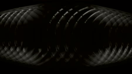 brain waves : plastic circle round cross in darkness,radar ripple pulse. Stock Footage
