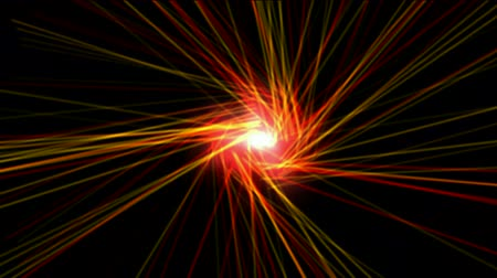 turbilhão : red fireball nucleus launch lines probe in space,computer virtual data fibre optic cable rays light.