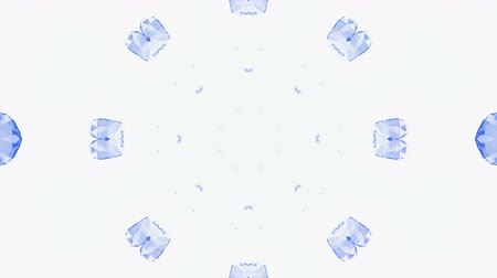 glass structure : diamonds and gems shaped snowflake,flower pattern as wedding fancy background. Stock Footage