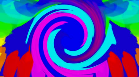 ornament kwiatowy : swirl streak and ribbon,abstract color ripple background. Wideo