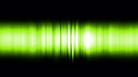 discotheque : dazzling green noise rays light in space,audio rhythm,static waveform degraded.
