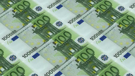 para kazanmak : 100 euro bills,Printing Money Animation. Stok Video