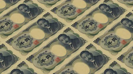 стимул : 1000 japan yen,Printing Money Animation.