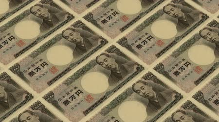 стимул : 10000 japanese yen,Printing Money Animation.