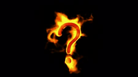 sorular : fire Question mark.