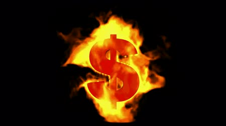 burns : fire dollar symbol.