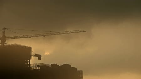 marco internacional : Sandstorm,Dark clouds and fog cover sun sky,building high-rise,House silhouette,sunrise,sunset.